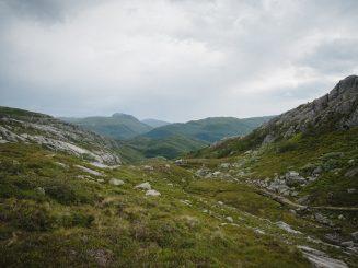 singletrack in mountain landscape